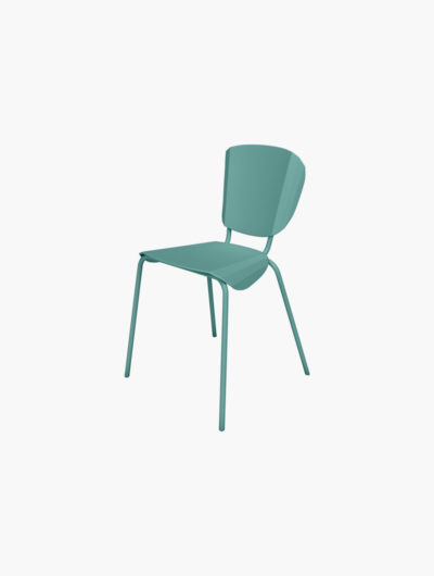 Chaise Batchair, chaise en métal. Son design fonctionne tres bien avec la collection Ankara. Cette chaise colorée apporte une vraie touche de design à l'espace.